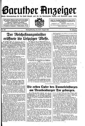 Baruther Anzeiger vom 26.08.1935