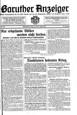 Baruther Anzeiger vom 28.08.1935