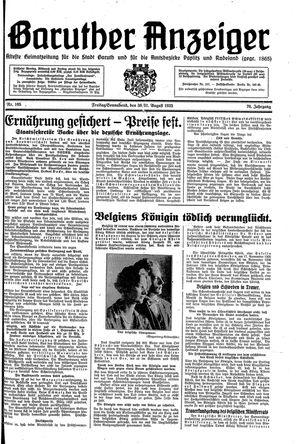 Baruther Anzeiger vom 30.08.1935