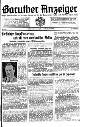 Baruther Anzeiger vom 04.09.1935