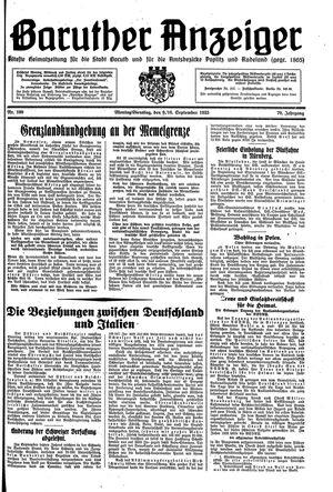 Baruther Anzeiger vom 09.09.1935