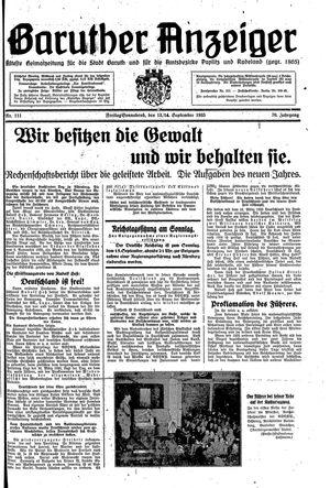 Baruther Anzeiger vom 13.09.1935