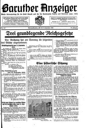 Baruther Anzeiger vom 16.09.1935