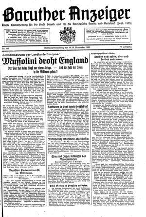 Baruther Anzeiger vom 18.09.1935