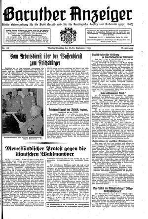Baruther Anzeiger vom 23.09.1935