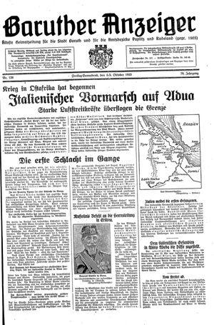Baruther Anzeiger vom 04.10.1935