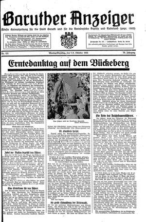 Baruther Anzeiger vom 07.10.1935