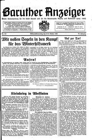 Baruther Anzeiger vom 09.10.1935