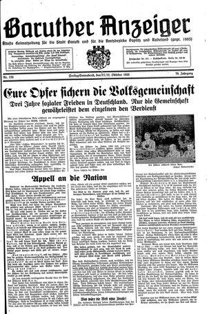 Baruther Anzeiger vom 11.10.1935