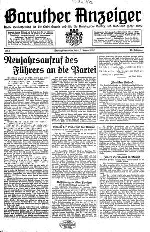 Baruther Anzeiger vom 01.01.1937