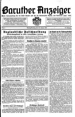 Baruther Anzeiger vom 04.01.1937