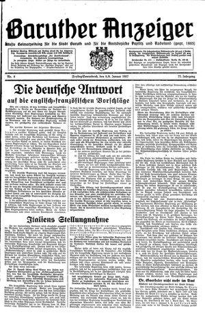 Baruther Anzeiger vom 08.01.1937