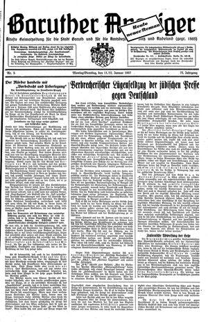 Baruther Anzeiger vom 11.01.1937
