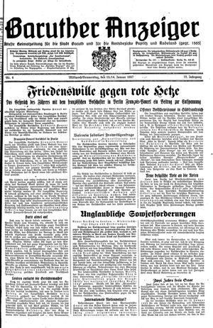 Baruther Anzeiger vom 13.01.1937
