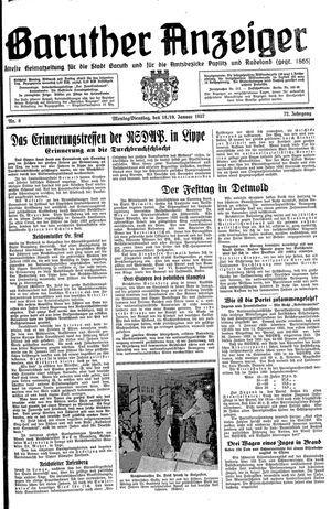 Baruther Anzeiger vom 18.01.1937