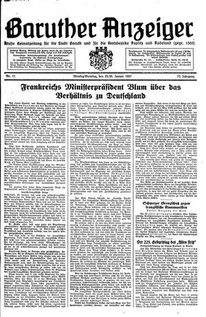 Baruther Anzeiger vom 25.01.1937