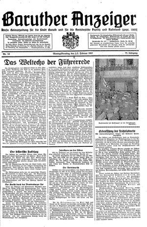 Baruther Anzeiger vom 01.02.1937