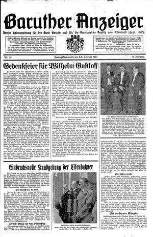 Baruther Anzeiger vom 05.02.1937