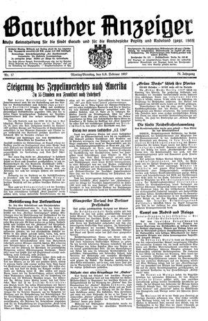 Baruther Anzeiger vom 08.02.1937