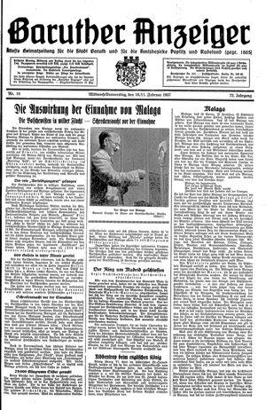 Baruther Anzeiger vom 10.02.1937