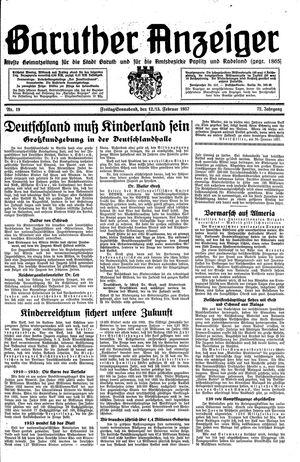 Baruther Anzeiger vom 12.02.1937