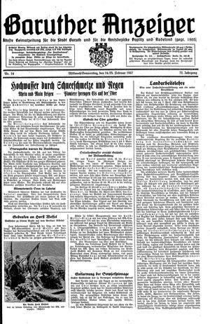 Baruther Anzeiger vom 24.02.1937