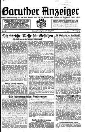 Baruther Anzeiger vom 01.03.1937