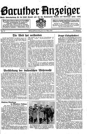 Baruther Anzeiger vom 03.03.1937