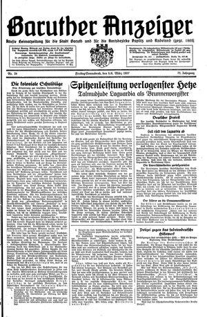 Baruther Anzeiger vom 05.03.1937