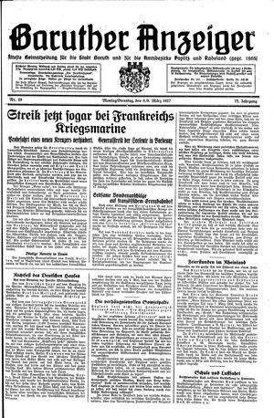 Baruther Anzeiger vom 08.03.1937