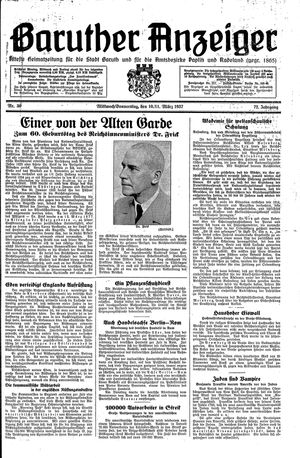 Baruther Anzeiger vom 10.03.1937