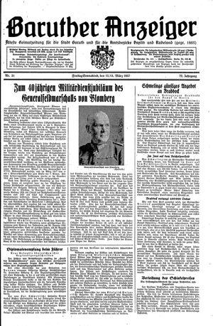 Baruther Anzeiger vom 12.03.1937