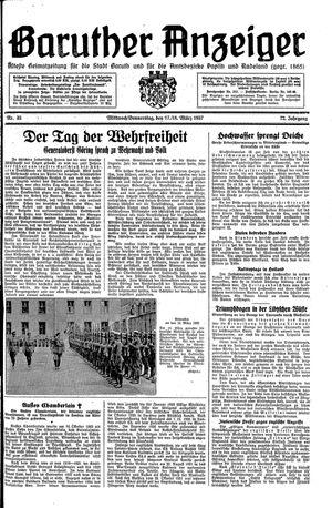 Baruther Anzeiger vom 17.03.1937