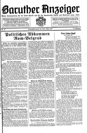 Baruther Anzeiger vom 26.03.1937