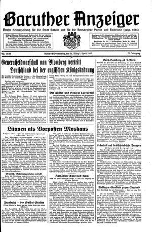Baruther Anzeiger vom 31.03.1937