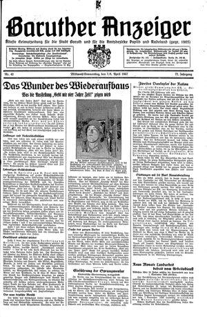 Baruther Anzeiger vom 07.04.1937