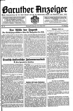 Baruther Anzeiger vom 12.04.1937