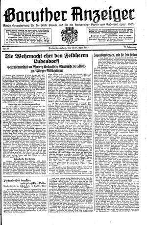 Baruther Anzeiger vom 16.04.1937