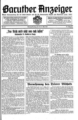 Baruther Anzeiger vom 10.05.1937