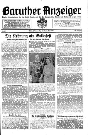 Baruther Anzeiger on May 12, 1937