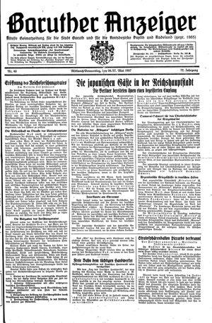 Baruther Anzeiger vom 26.05.1937