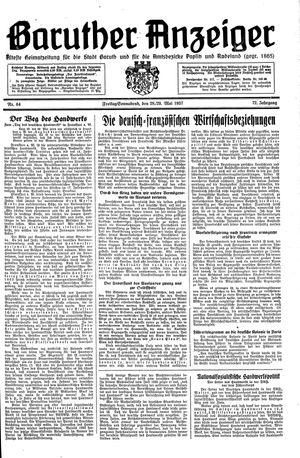 Baruther Anzeiger vom 28.05.1937