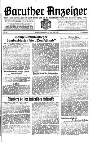 Baruther Anzeiger vom 04.06.1937