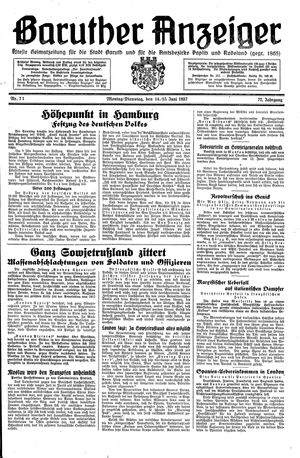 Baruther Anzeiger on Jun 14, 1937