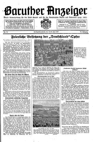 Baruther Anzeiger vom 18.06.1937