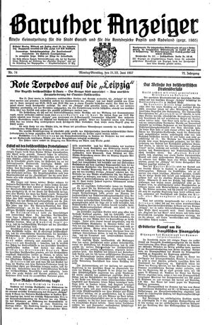 Baruther Anzeiger on Jun 21, 1937