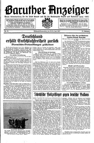 Baruther Anzeiger vom 23.06.1937