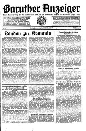 Baruther Anzeiger vom 25.06.1937