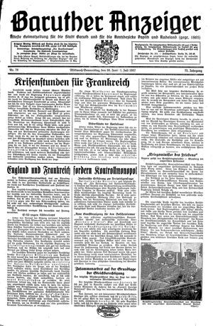 Baruther Anzeiger vom 30.06.1937