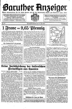Baruther Anzeiger vom 02.07.1937